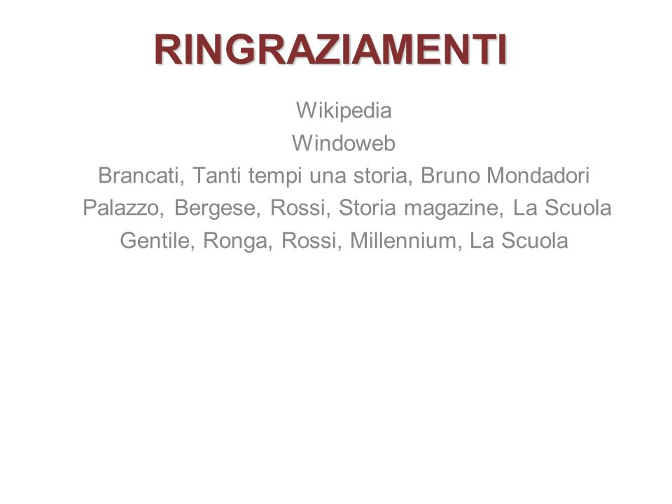 RINGRAZIAMENTI Wikipedia Windoweb