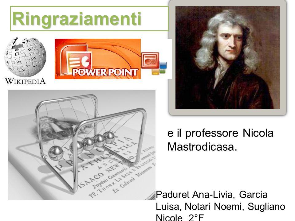 Ringraziamenti e il professore Nicola Mastrodicasa.