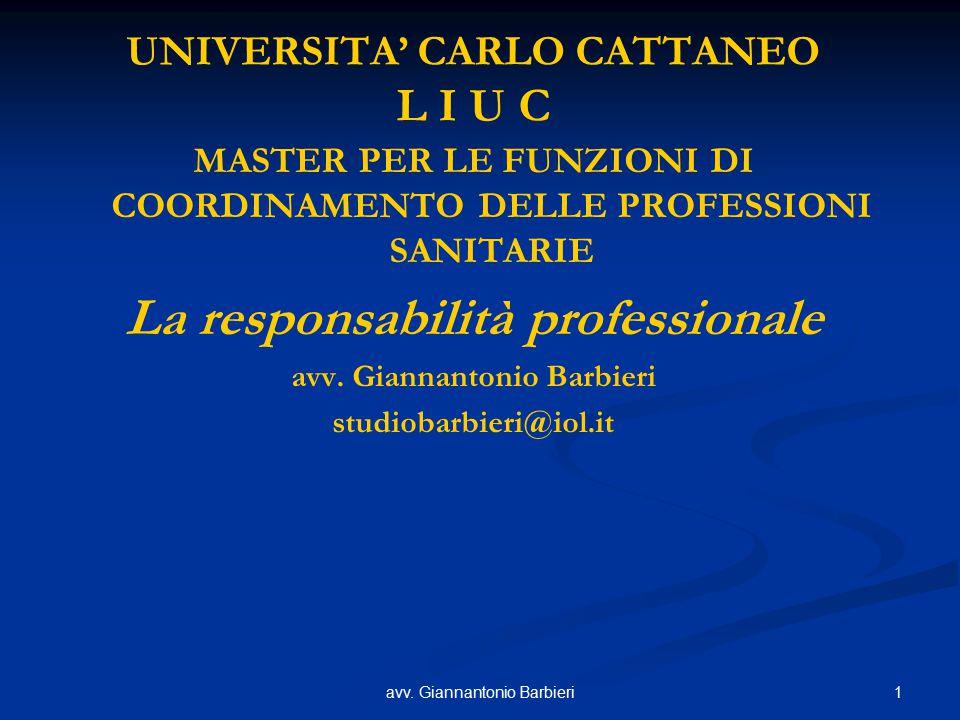 UNIVERSITA' CARLO CATTANEO L I U C