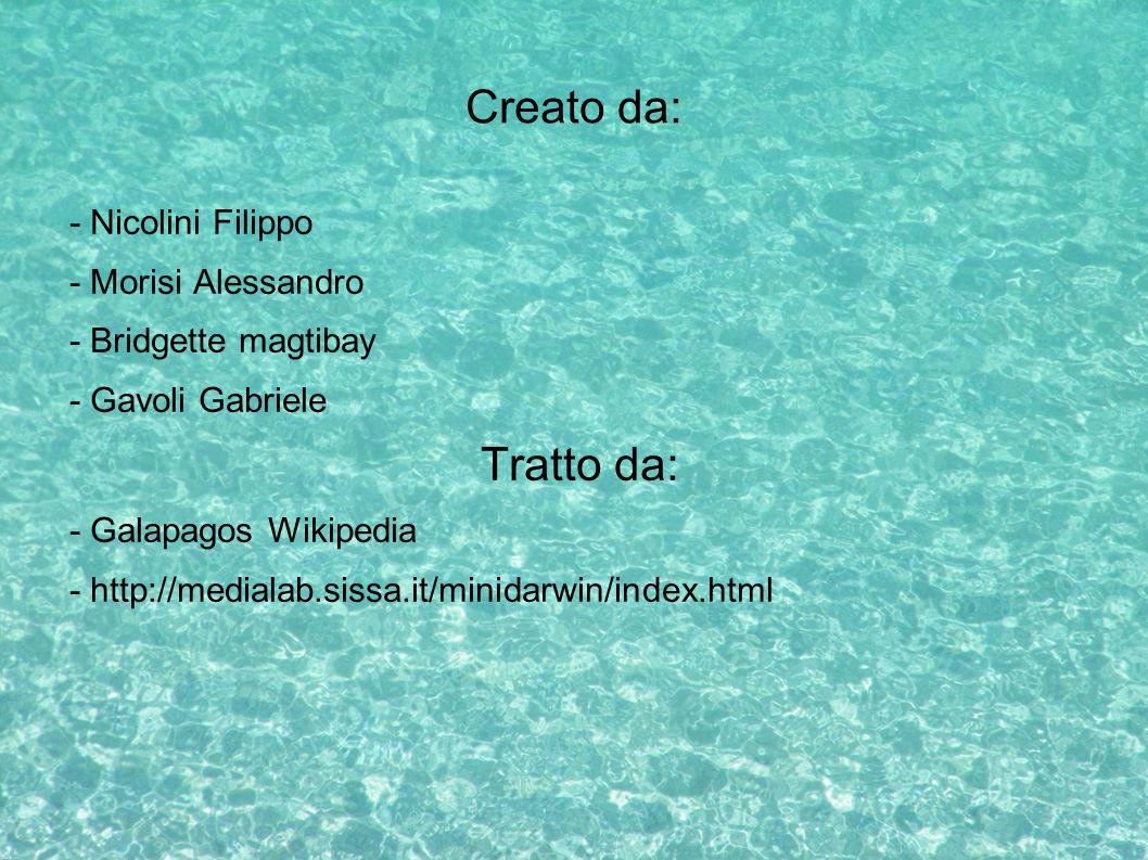 Creato da: Tratto da: - Nicolini Filippo - Morisi Alessandro