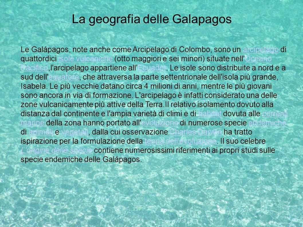 La geografia delle Galapagos