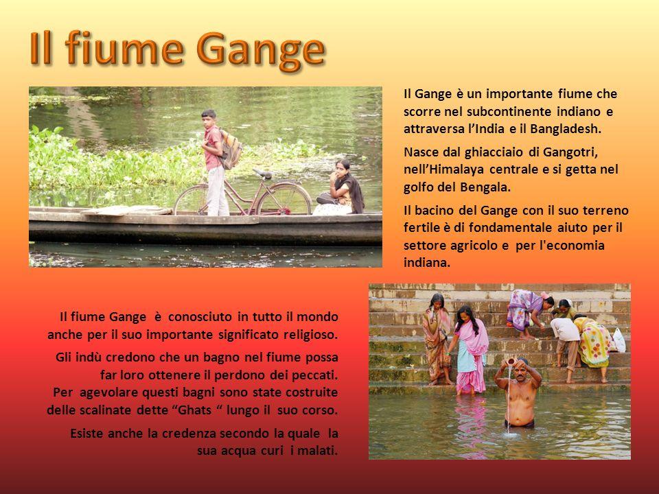 Il fiume Gange Il Gange è un importante fiume che scorre nel subcontinente indiano e attraversa l'India e il Bangladesh.