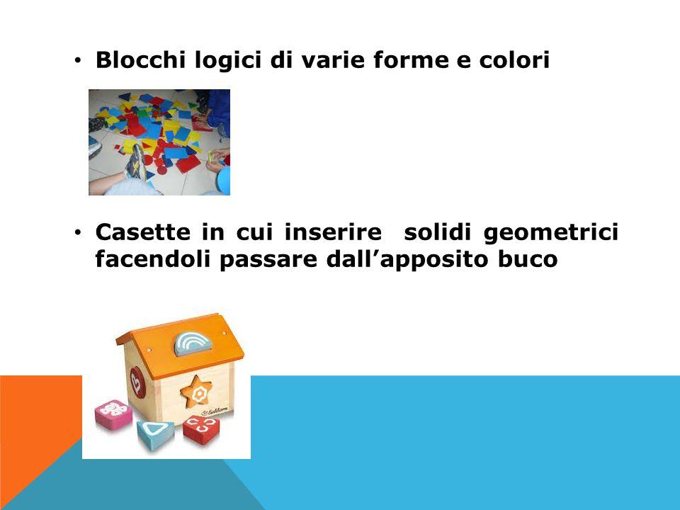 Blocchi logici di varie forme e colori