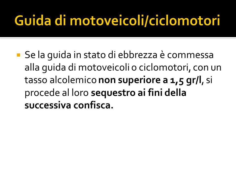 Guida di motoveicoli/ciclomotori
