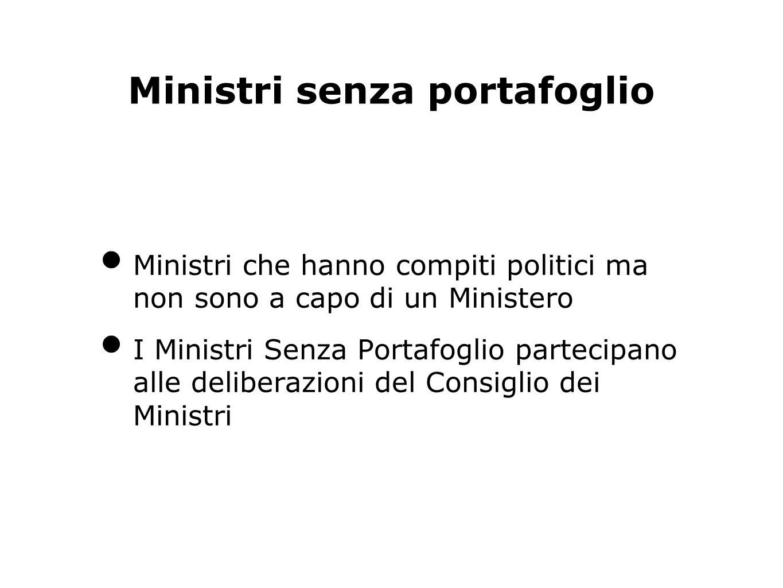 Ministri senza portafoglio