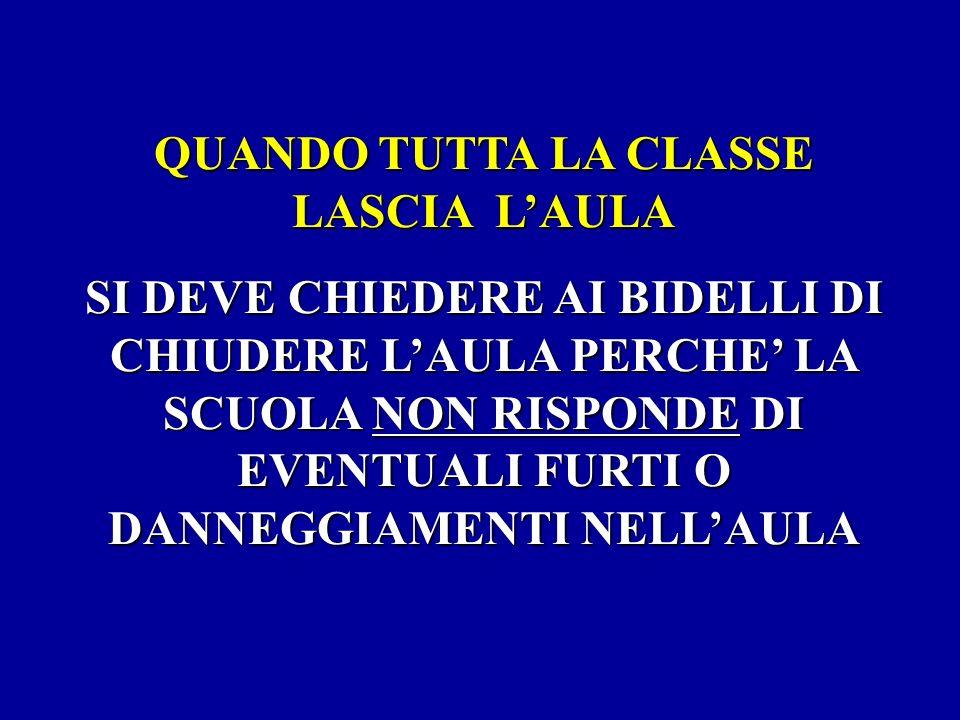 QUANDO TUTTA LA CLASSE LASCIA L'AULA