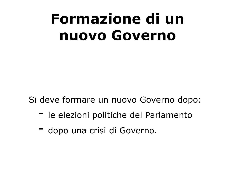 Formazione di un nuovo Governo