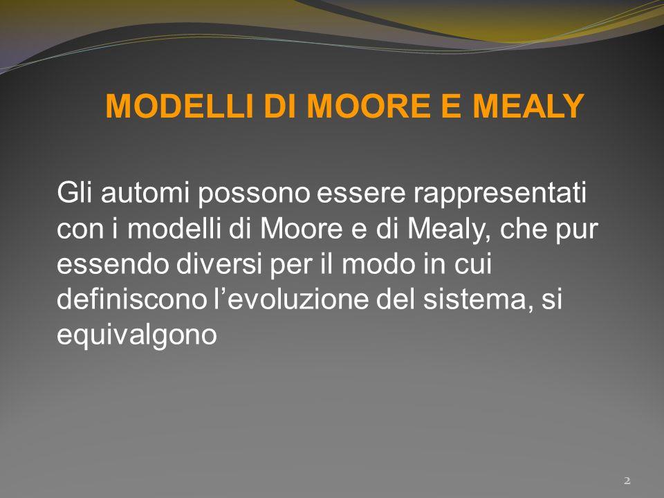 MODELLI DI MOORE E MEALY