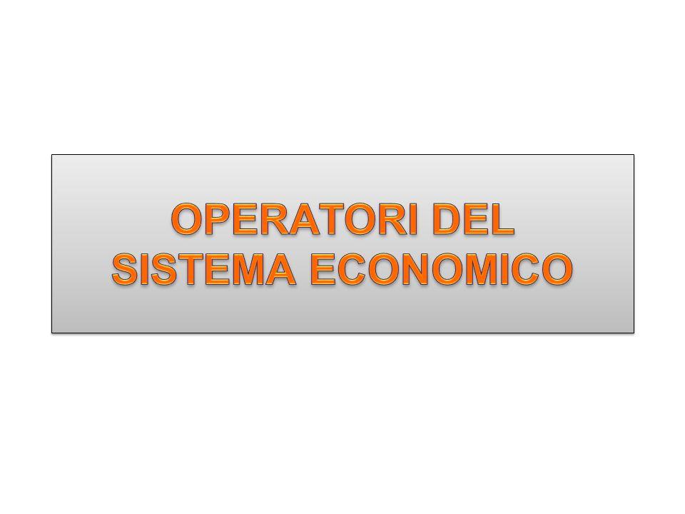 OPERATORI DEL SISTEMA ECONOMICO