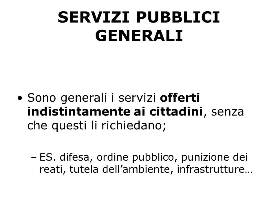 SERVIZI PUBBLICI GENERALI