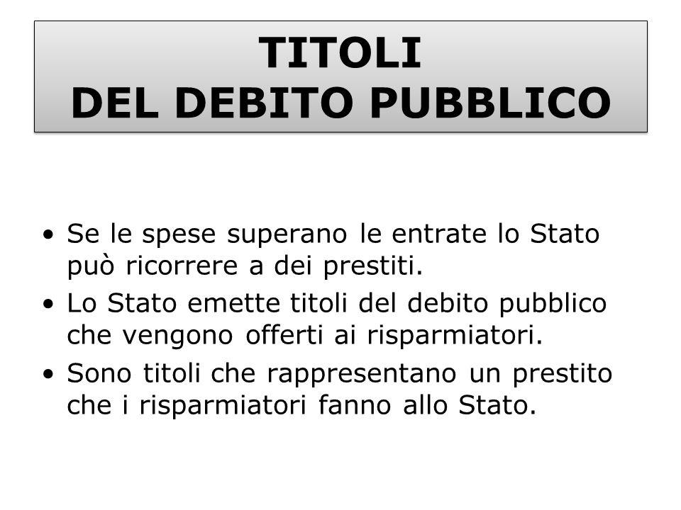 TITOLI DEL DEBITO PUBBLICO