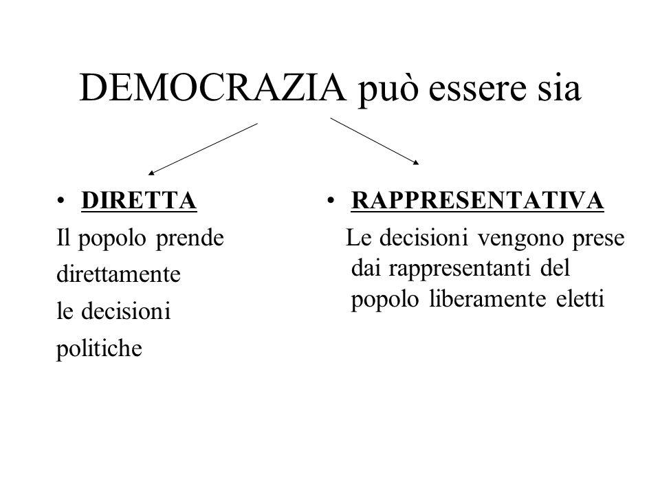 DEMOCRAZIA può essere sia