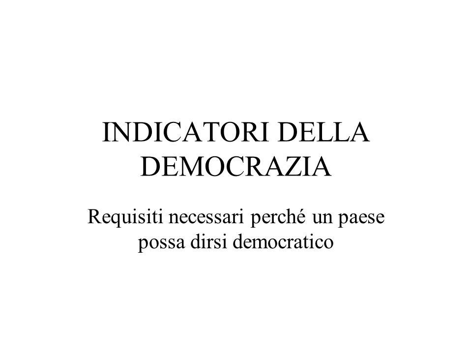 INDICATORI DELLA DEMOCRAZIA