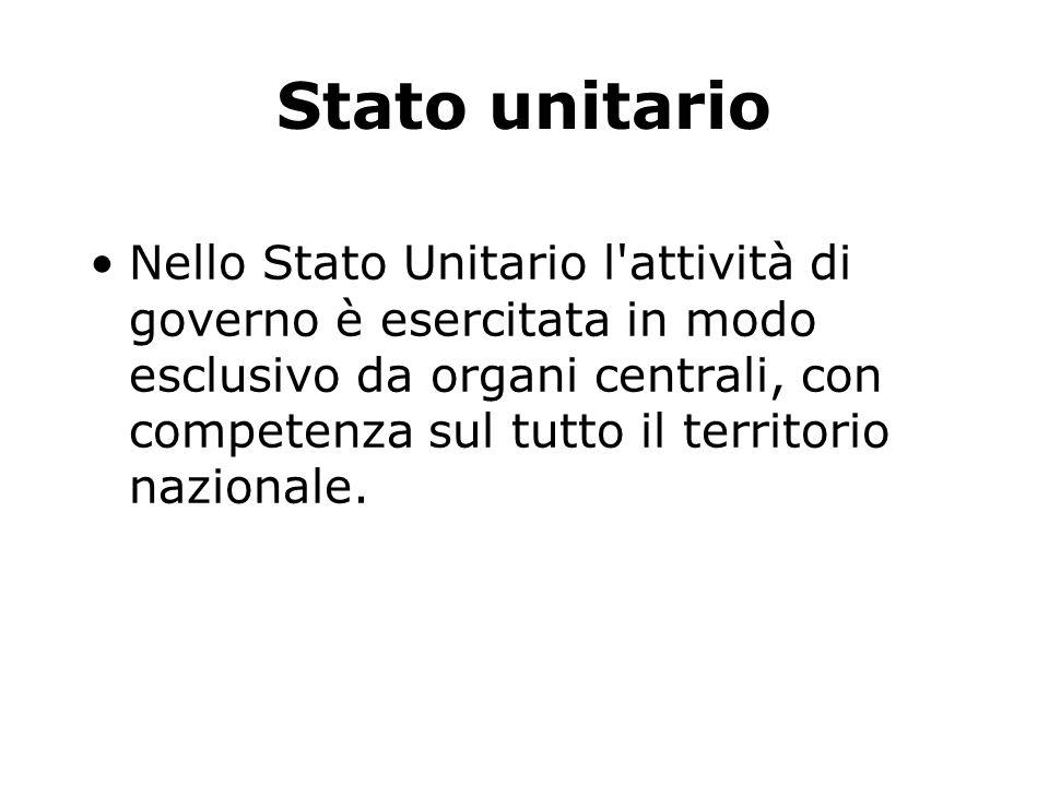 Stato unitario