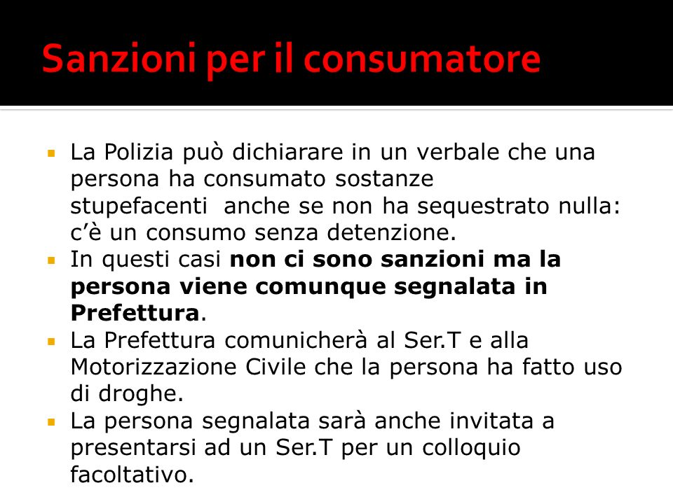 Sanzioni per il consumatore