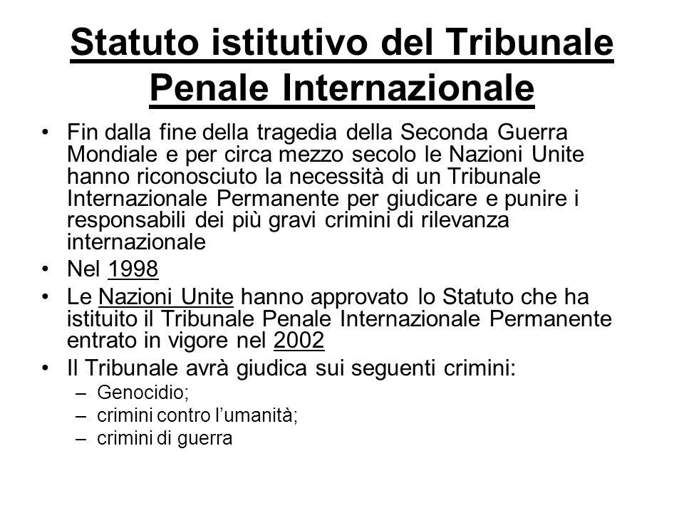 Statuto istitutivo del Tribunale Penale Internazionale