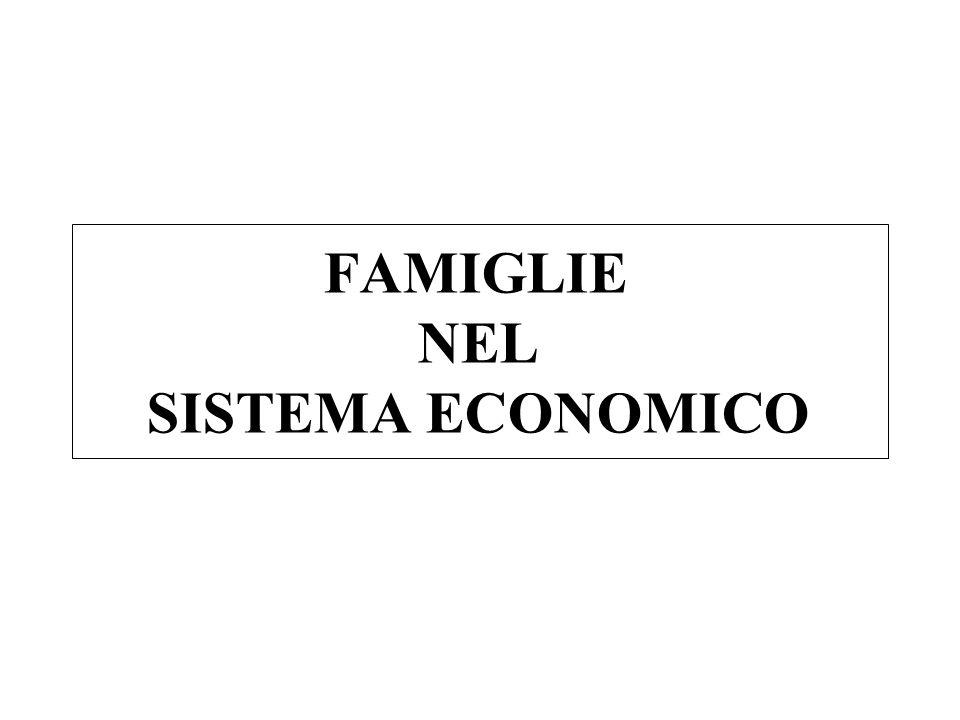 FAMIGLIE NEL SISTEMA ECONOMICO