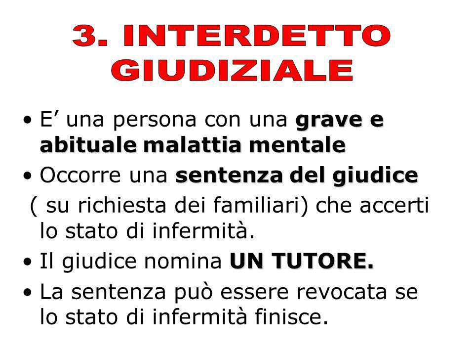 3. INTERDETTO GIUDIZIALE