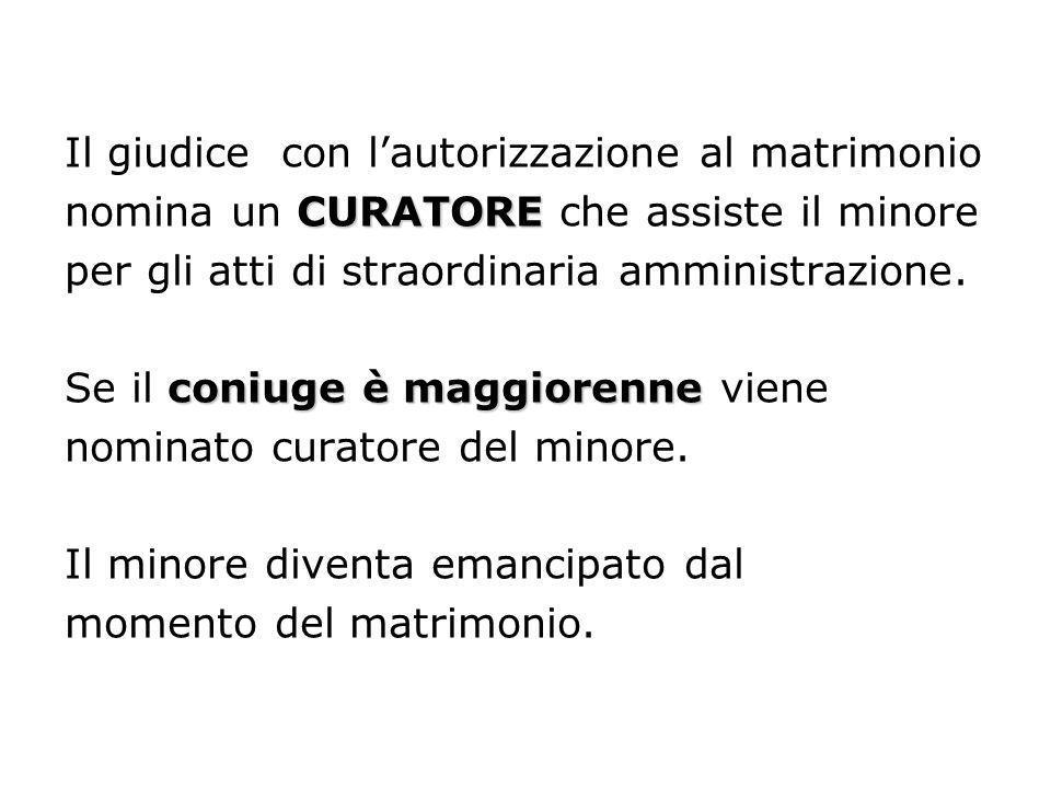 Il giudice con l'autorizzazione al matrimonio