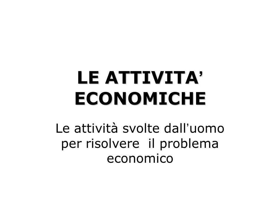 LE ATTIVITA' ECONOMICHE