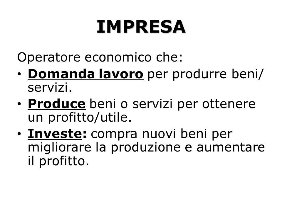 IMPRESA Operatore economico che: