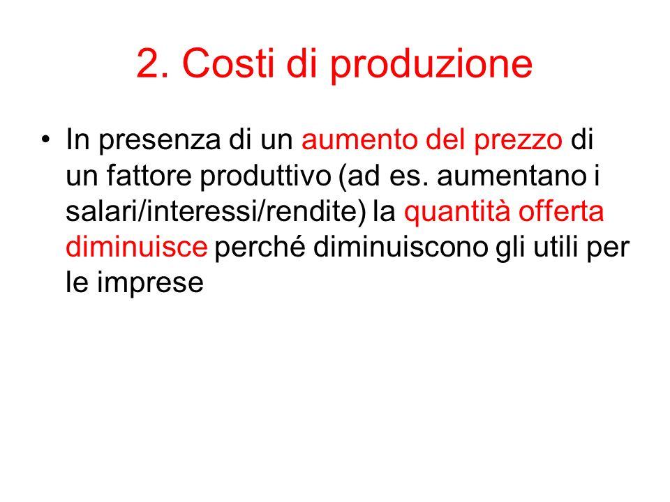 2. Costi di produzione