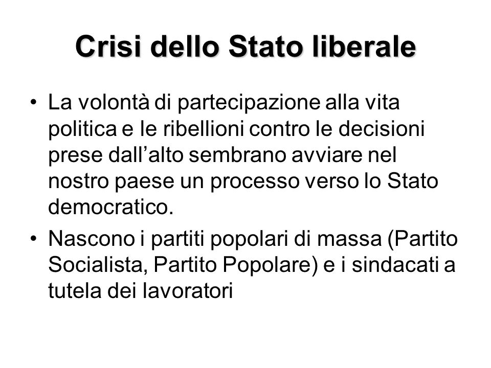 Crisi dello Stato liberale