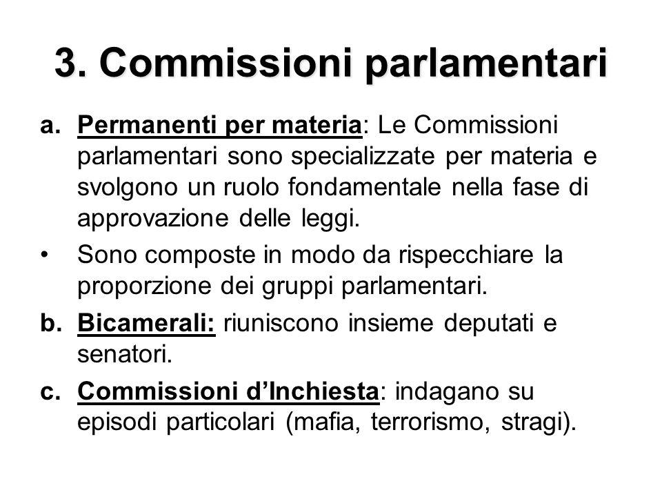 3. Commissioni parlamentari