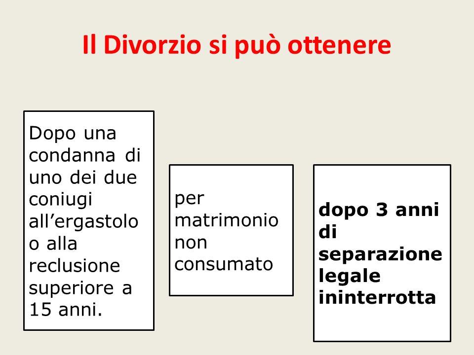 Il Divorzio si può ottenere