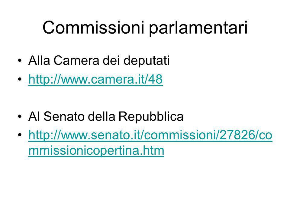Parlamento parlamento ppt scaricare for Camera dei deputati commissioni