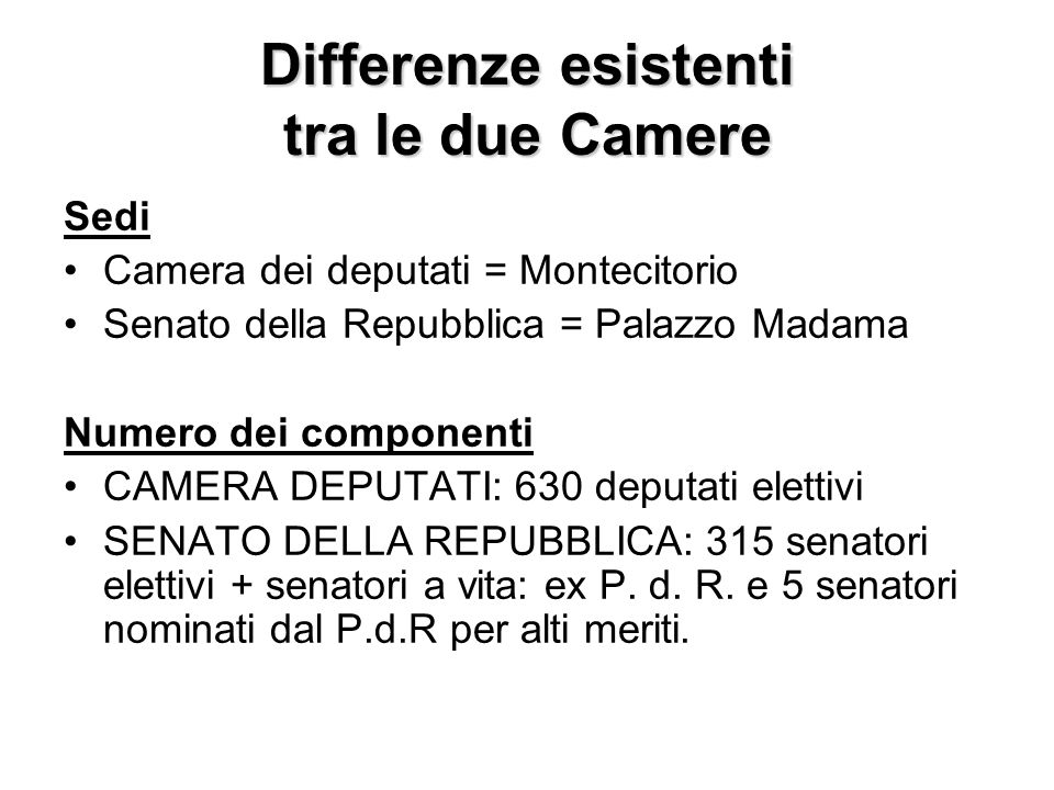 Parlamento parlamento ppt video online scaricare for Camera dei deputati on line