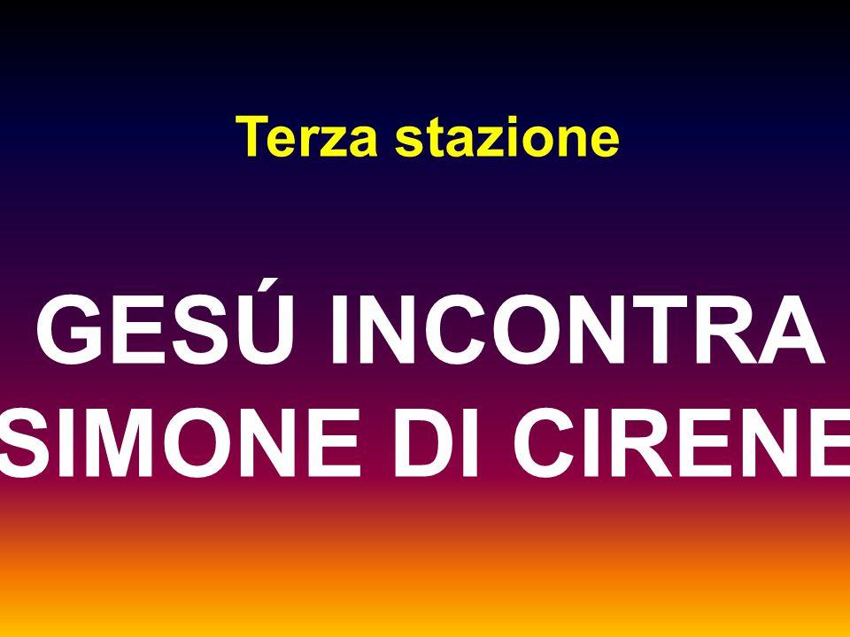 GESÚ INCONTRA SIMONE DI CIRENE
