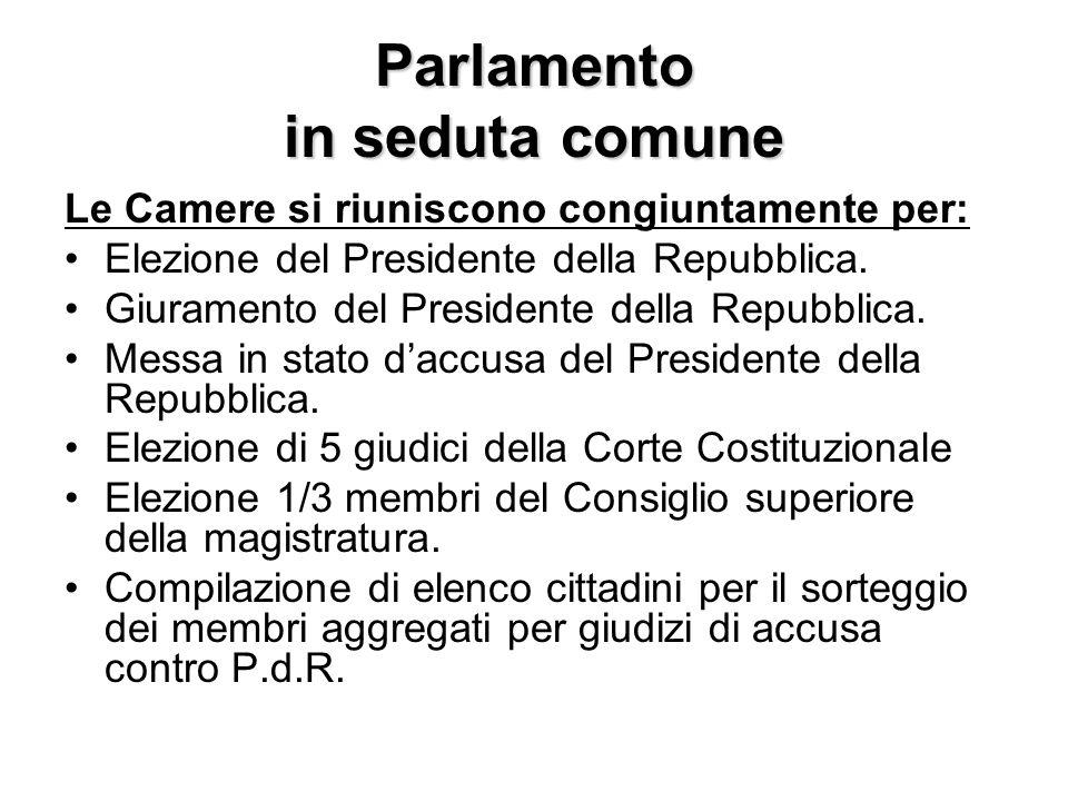 Parlamento in seduta comune