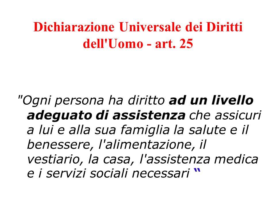 Dichiarazione Universale dei Diritti dell Uomo - art. 25