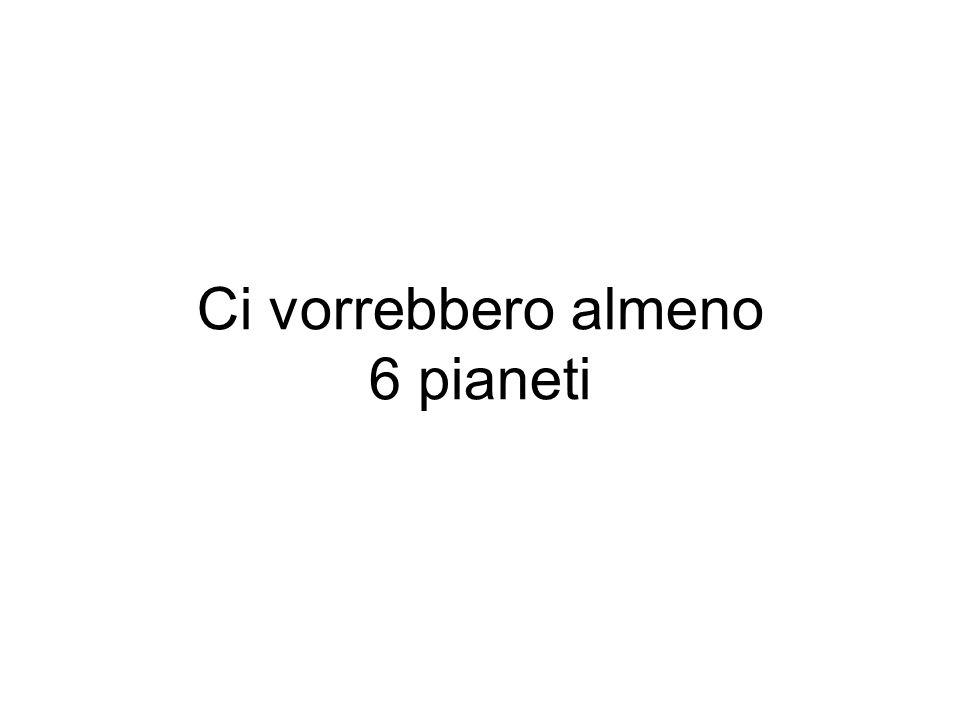 Ci vorrebbero almeno 6 pianeti
