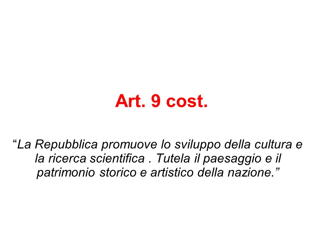 Art. 9 cost.