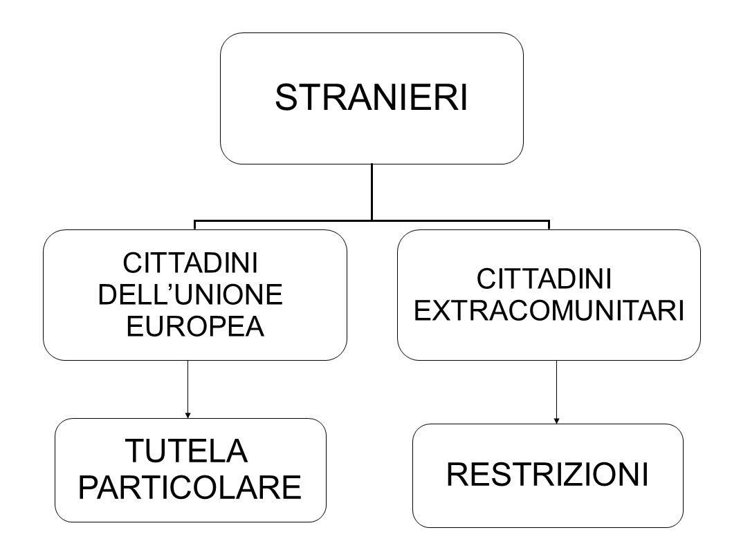 STRANIERI TUTELA PARTICOLARE RESTRIZIONI CITTADINI DELL'UNIONE EUROPEA