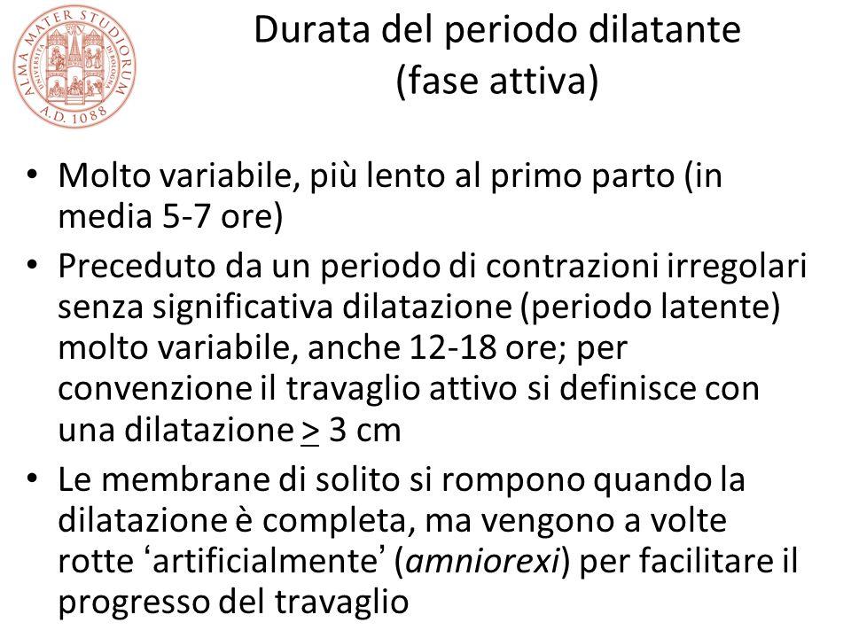 Durata del periodo dilatante (fase attiva)