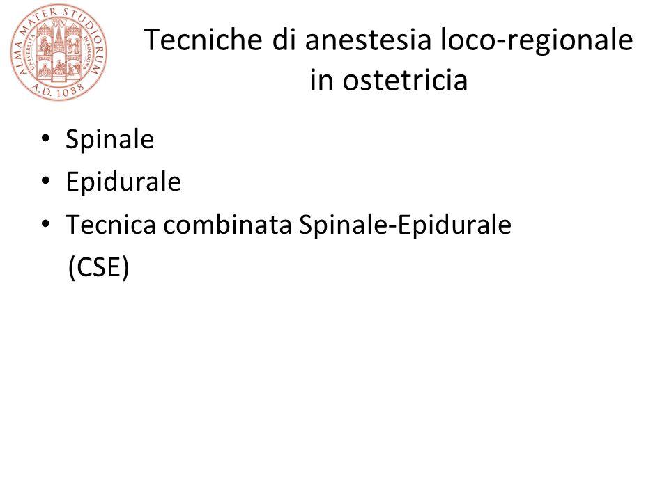 Tecniche di anestesia loco-regionale in ostetricia