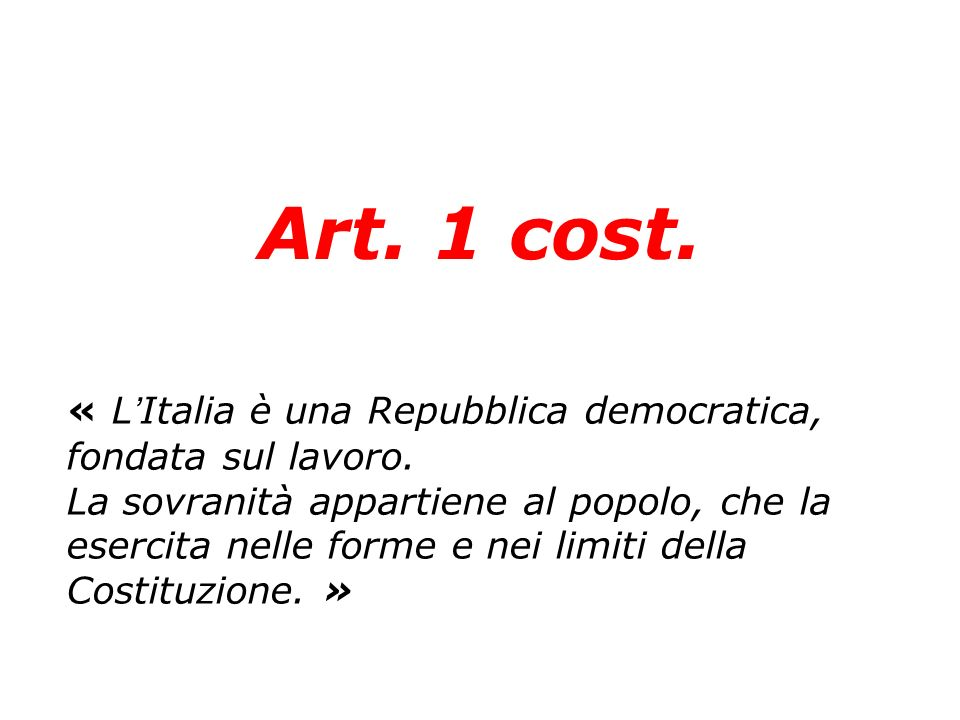 Art. 1 cost.