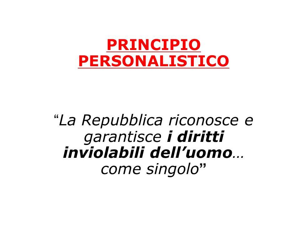 PRINCIPIO PERSONALISTICO