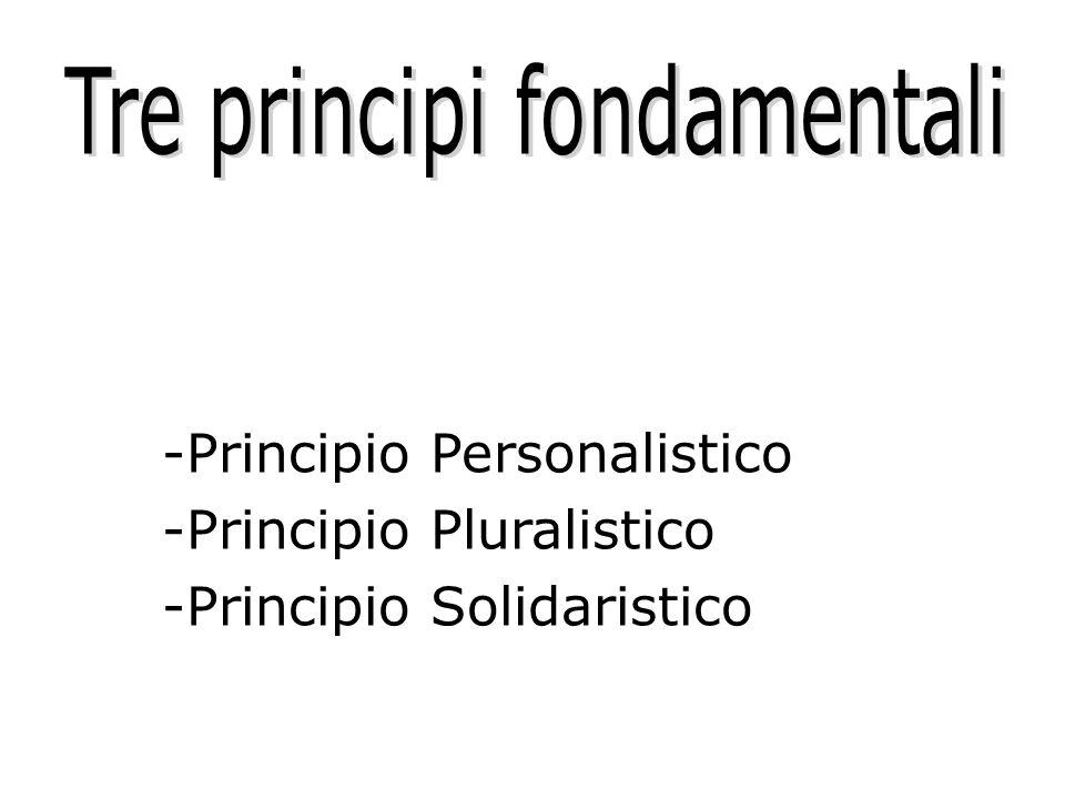 Tre principi fondamentali