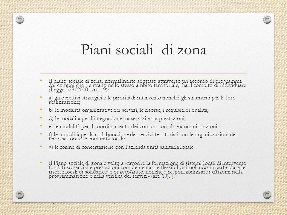 Piani sociali di zona