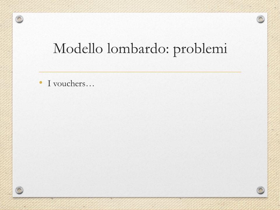 Modello lombardo: problemi