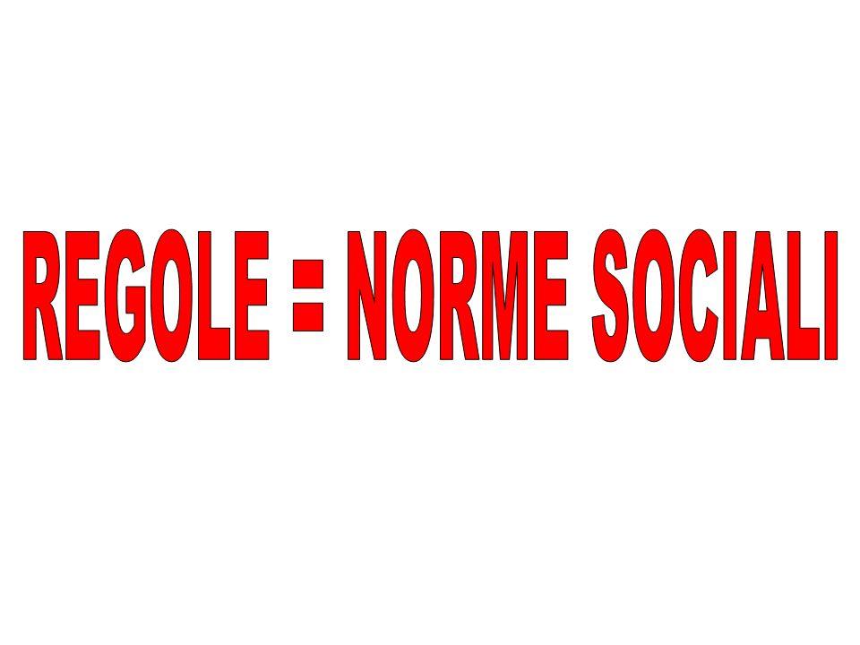 REGOLE = NORME SOCIALI
