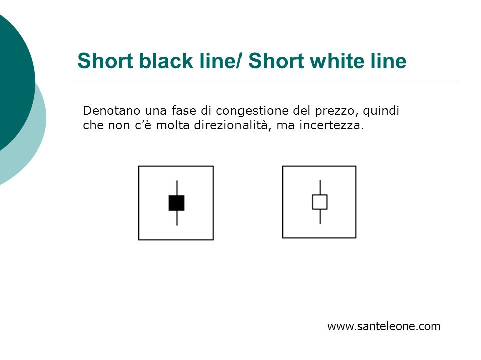Short black line/ Short white line