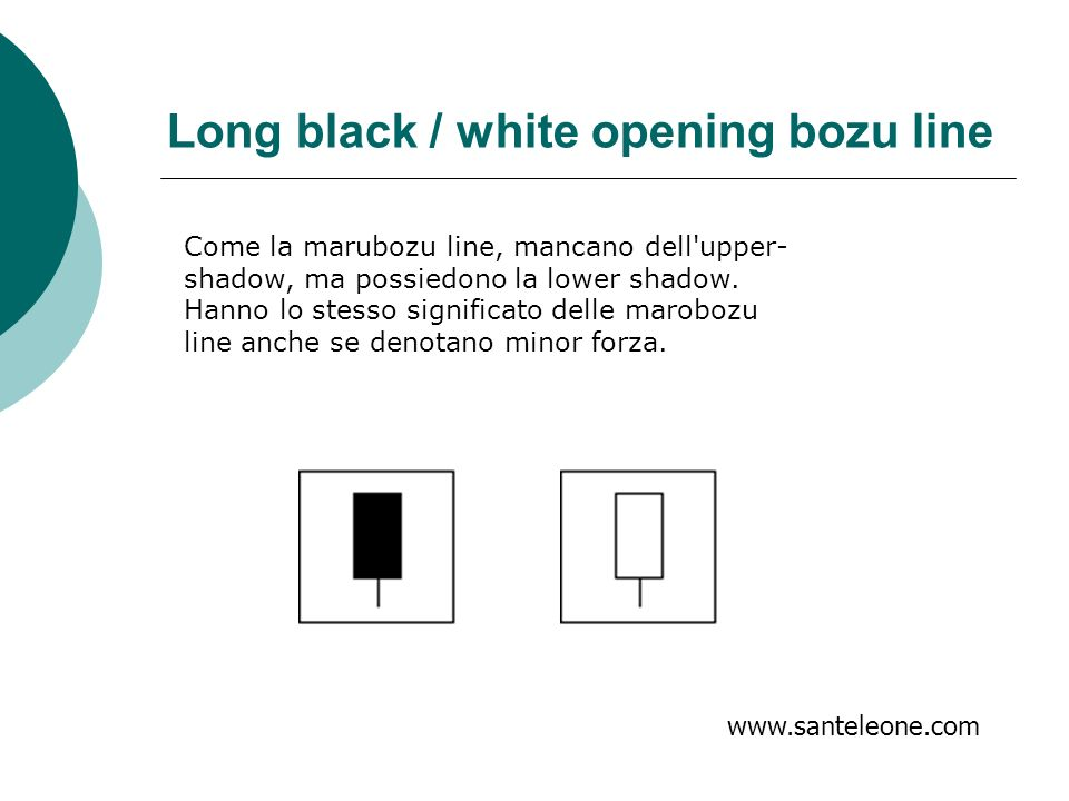 Long black / white opening bozu line