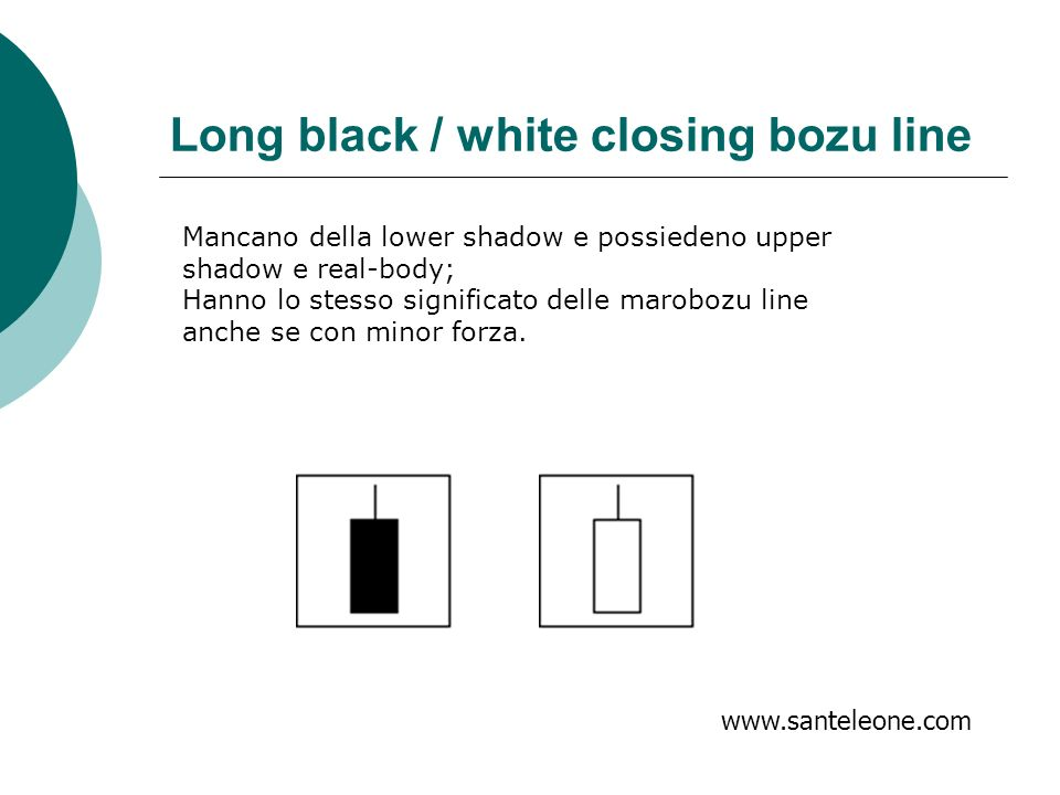 Long black / white closing bozu line