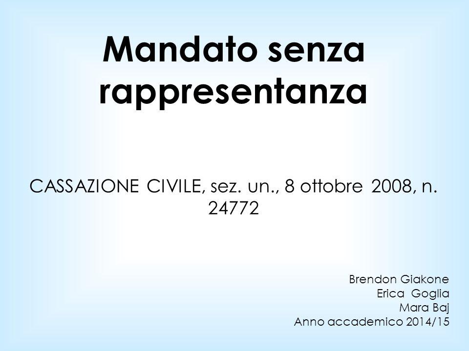 CASSAZIONE CIVILE, sez. un., 8 ottobre 2008, n. 24772