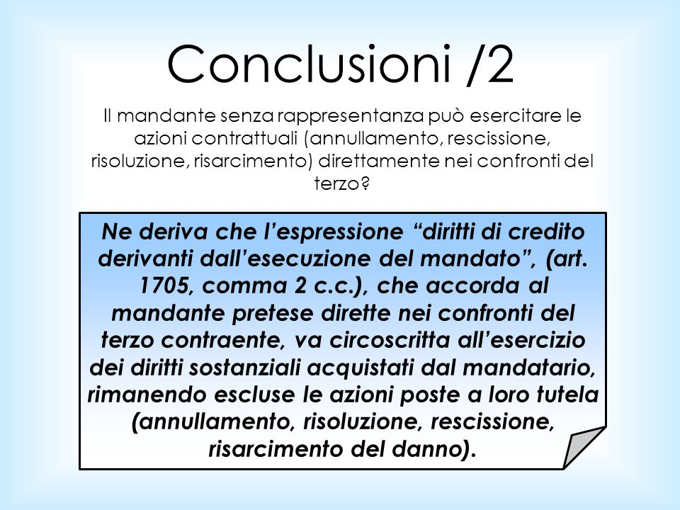 Conclusioni /2